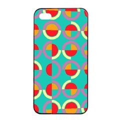 Semicircles And Arcs Pattern Apple Iphone 4/4s Seamless Case (black) by linceazul