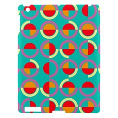 Semicircles And Arcs Pattern Apple Ipad 3/4 Hardshell Case by linceazul