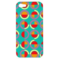 Semicircles And Arcs Pattern Apple Iphone 5 Hardshell Case by linceazul