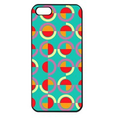 Semicircles And Arcs Pattern Apple Iphone 5 Seamless Case (black) by linceazul