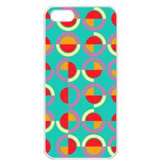 Semicircles And Arcs Pattern Apple Iphone 5 Seamless Case (white) by linceazul