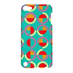 Semicircles And Arcs Pattern Apple Ipod Touch 5 Hardshell Case by linceazul