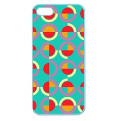 Semicircles And Arcs Pattern Apple Seamless Iphone 5 Case (color) by linceazul