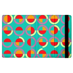 Semicircles And Arcs Pattern Apple Ipad 2 Flip Case by linceazul