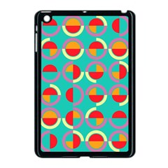 Semicircles And Arcs Pattern Apple Ipad Mini Case (black) by linceazul