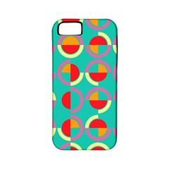 Semicircles And Arcs Pattern Apple Iphone 5 Classic Hardshell Case (pc+silicone) by linceazul