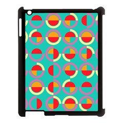 Semicircles And Arcs Pattern Apple Ipad 3/4 Case (black) by linceazul