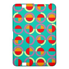 Semicircles And Arcs Pattern Kindle Fire Hd 8 9  by linceazul