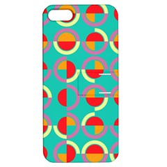 Semicircles And Arcs Pattern Apple Iphone 5 Hardshell Case With Stand by linceazul