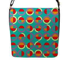 Semicircles And Arcs Pattern Flap Messenger Bag (l)  by linceazul