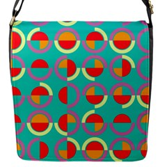 Semicircles And Arcs Pattern Flap Messenger Bag (s) by linceazul