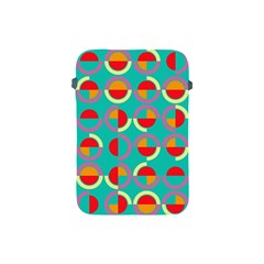 Semicircles And Arcs Pattern Apple Ipad Mini Protective Soft Cases by linceazul