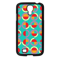 Semicircles And Arcs Pattern Samsung Galaxy S4 I9500/ I9505 Case (black) by linceazul
