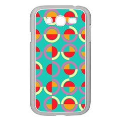 Semicircles And Arcs Pattern Samsung Galaxy Grand Duos I9082 Case (white) by linceazul