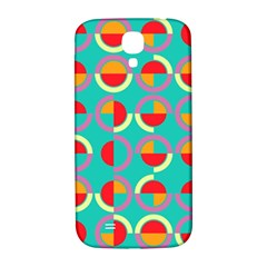 Semicircles And Arcs Pattern Samsung Galaxy S4 I9500/i9505  Hardshell Back Case by linceazul