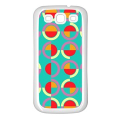 Semicircles And Arcs Pattern Samsung Galaxy S3 Back Case (white) by linceazul
