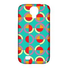 Semicircles And Arcs Pattern Samsung Galaxy S4 Classic Hardshell Case (pc+silicone) by linceazul