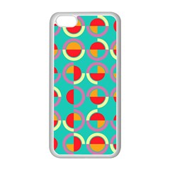 Semicircles And Arcs Pattern Apple Iphone 5c Seamless Case (white) by linceazul