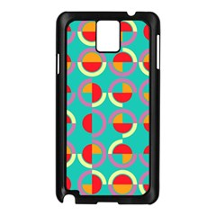 Semicircles And Arcs Pattern Samsung Galaxy Note 3 N9005 Case (black) by linceazul