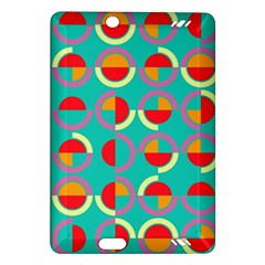 Semicircles And Arcs Pattern Amazon Kindle Fire Hd (2013) Hardshell Case by linceazul