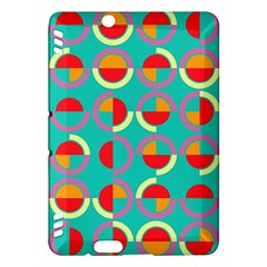 Semicircles And Arcs Pattern Kindle Fire Hdx Hardshell Case by linceazul