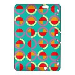 Semicircles And Arcs Pattern Kindle Fire Hdx 8 9  Hardshell Case by linceazul