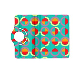 Semicircles And Arcs Pattern Kindle Fire Hd (2013) Flip 360 Case by linceazul