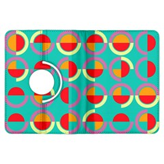 Semicircles And Arcs Pattern Kindle Fire Hdx Flip 360 Case by linceazul