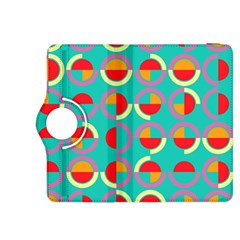 Semicircles And Arcs Pattern Kindle Fire Hdx 8 9  Flip 360 Case by linceazul