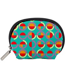 Semicircles And Arcs Pattern Accessory Pouches (small)  by linceazul