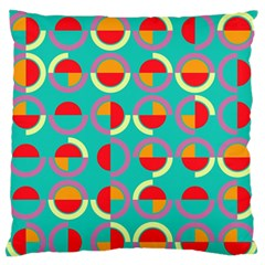 Semicircles And Arcs Pattern Standard Flano Cushion Case (one Side) by linceazul
