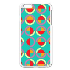 Semicircles And Arcs Pattern Apple Iphone 6 Plus/6s Plus Enamel White Case by linceazul