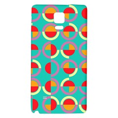 Semicircles And Arcs Pattern Galaxy Note 4 Back Case by linceazul
