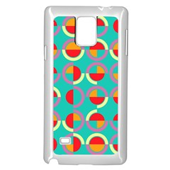 Semicircles And Arcs Pattern Samsung Galaxy Note 4 Case (white) by linceazul