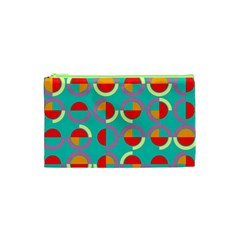 Semicircles And Arcs Pattern Cosmetic Bag (xs) by linceazul