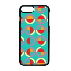 Semicircles And Arcs Pattern Apple Iphone 7 Plus Seamless Case (black) by linceazul