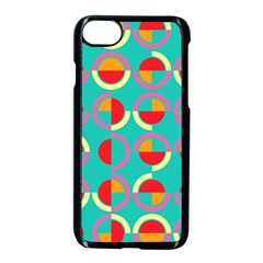 Semicircles And Arcs Pattern Apple Iphone 7 Seamless Case (black) by linceazul