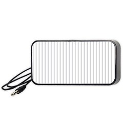 Dove Grey Pin Stripes on White Portable Speaker (Black)