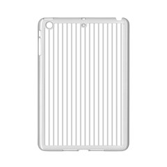 Dove Grey Pin Stripes on White iPad Mini 2 Enamel Coated Cases