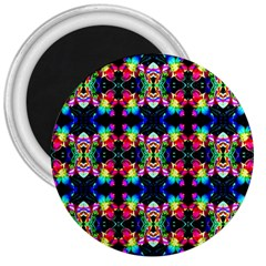 Colorful Bright Seamless Flower Pattern 3  Magnets