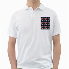 Colorful Bright Seamless Flower Pattern Golf Shirts