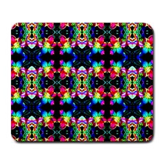 Colorful Bright Seamless Flower Pattern Large Mousepads by Costasonlineshop