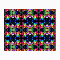Colorful Bright Seamless Flower Pattern Small Glasses Cloth by Costasonlineshop