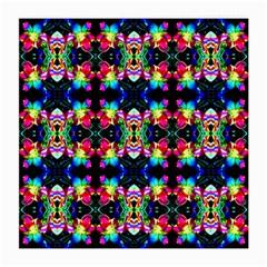 Colorful Bright Seamless Flower Pattern Medium Glasses Cloth