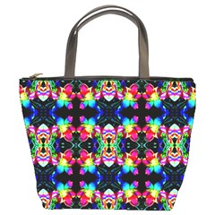 Colorful Bright Seamless Flower Pattern Bucket Bags