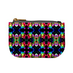 Colorful Bright Seamless Flower Pattern Mini Coin Purses by Costasonlineshop