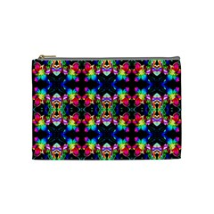 Colorful Bright Seamless Flower Pattern Cosmetic Bag (medium)  by Costasonlineshop