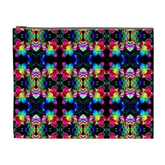 Colorful Bright Seamless Flower Pattern Cosmetic Bag (xl)