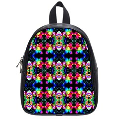 Colorful Bright Seamless Flower Pattern School Bags (small)  by Costasonlineshop