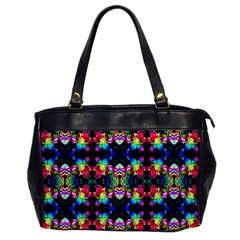 Colorful Bright Seamless Flower Pattern Office Handbags by Costasonlineshop